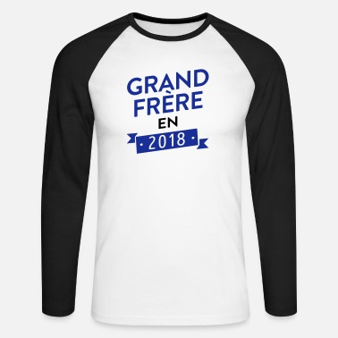 Grossesse grand frère 2018 - annonce - T-shirt manches longues baseball Homme