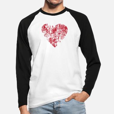 Distressed Distressed Heart - Men's Longsleeve Baseball T-Shirt