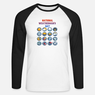 national weatherman's day - T-shirt manches longues baseball Homme