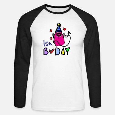 Bday 1er monstre bday - T-shirt manches longues baseball Homme