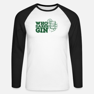 London Gin Drink Tonic - Männer Baseball Langarmshirt