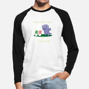 Brotherasurus Siblings brother Brothersaurus I gift - Men's Longsleeve Baseball T-Shirt