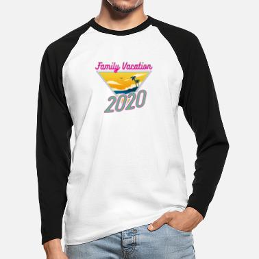 Fun Family Vacation 2020 Fun Vacation Traveler Gift - Men's Longsleeve Baseball T-Shirt
