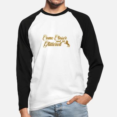 Jokes Gold unicorn glitters - Men's Longsleeve Baseball T-Shirt