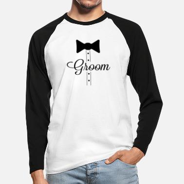 Groom groom - Men's Longsleeve Baseball T-Shirt
