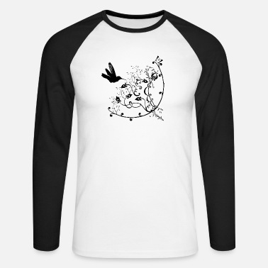 Retro Underwear Retro Flowers - Men's Longsleeve Baseball T-Shirt