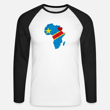 african_soccer_heart_of_the_democratic_republic - Men's Longsleeve Baseball T-Shirt