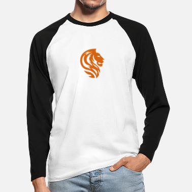 lion - Men's Longsleeve Baseball T-Shirt