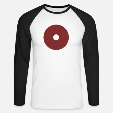 Red circle hole - Men's Longsleeve Baseball T-Shirt