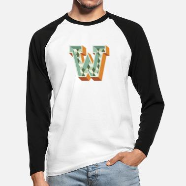 W W - Men's Longsleeve Baseball T-Shirt
