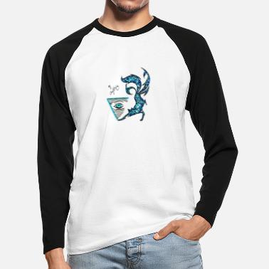 Fox with eye - Men's Longsleeve Baseball T-Shirt