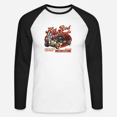 Rockabilly Hot Rod Bandit - Långärmad baseball T-shirt herr