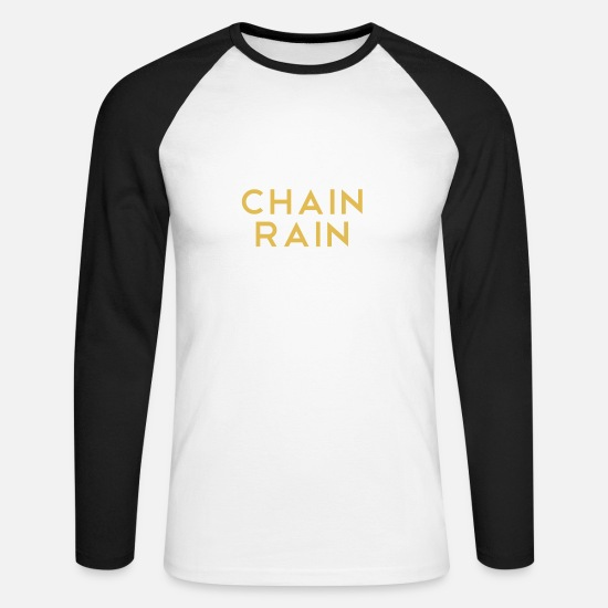 Gift Idea Long sleeve shirts - Chains Rain Chain Rain - Men's Longsleeve Baseball T-Shirt white/black