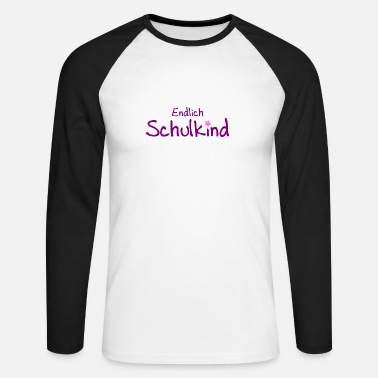 Idoetzchen Finally schoolchild - school enrollment - school - Kita - Men's Longsleeve Baseball T-Shirt