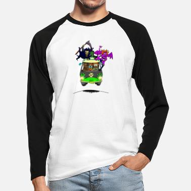 Scooby No Scooby fan art final - Men's Longsleeve Baseball T-Shirt
