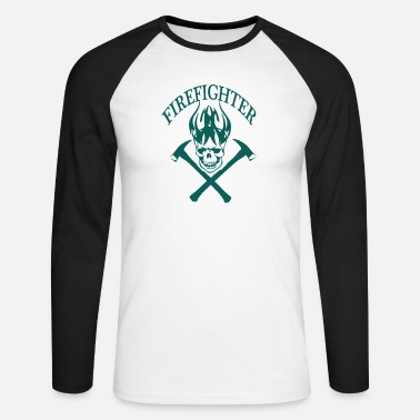 Fire Fighter fire fighter - Men's Longsleeve Baseball T-Shirt