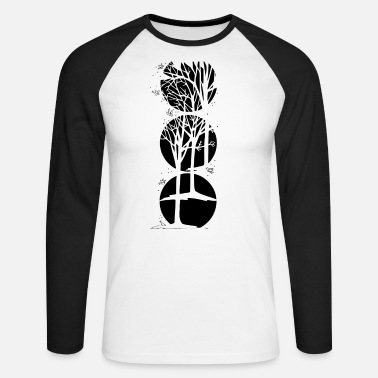 Nature Winter - Männer Baseball Langarmshirt