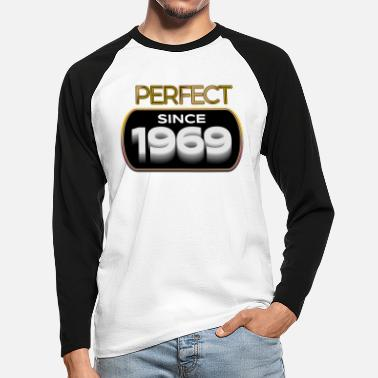 Awesome Perfect since 1969 - Men's Longsleeve Baseball T-Shirt