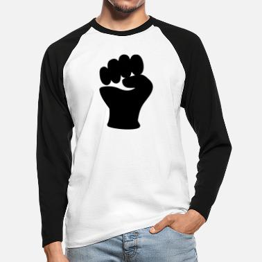 Clip Art Fist Power Hand Clip Art - Men's Longsleeve Baseball T-Shirt