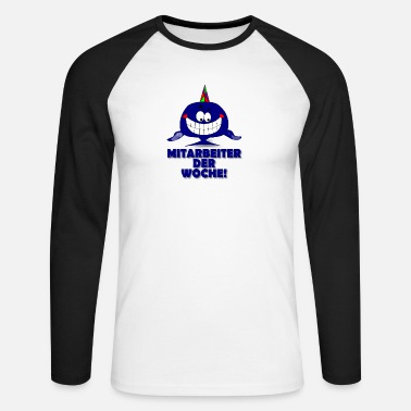 Employee Of Week Employee of the week! - Men's Longsleeve Baseball T-Shirt