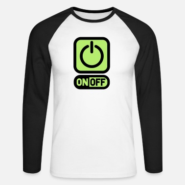 Switch Off On off switch off power - Men's Longsleeve Baseball T-Shirt