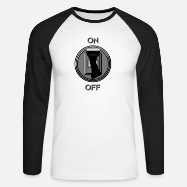Switch Off switch on off - Men's Longsleeve Baseball T-Shirt