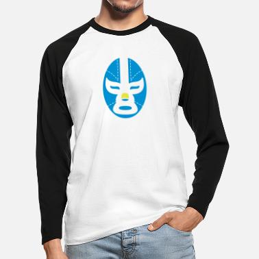 Mask Mask Mask - Men's Longsleeve Baseball T-Shirt