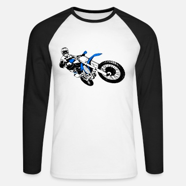 Motocross Motorcross - Moto Cross - Supercross - MX - SX - Mannen baseball longsleeve