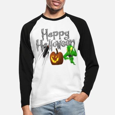 Monster Halloween - Männer Baseball Langarmshirt