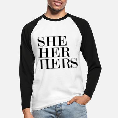 Herring SHE HER HERS - Men's Longsleeve Baseball T-Shirt
