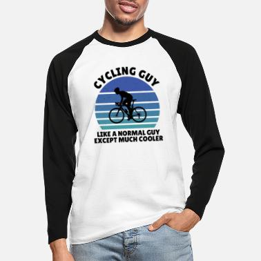 Bike Chrismas cycling guy - Männer Baseball Langarmshirt