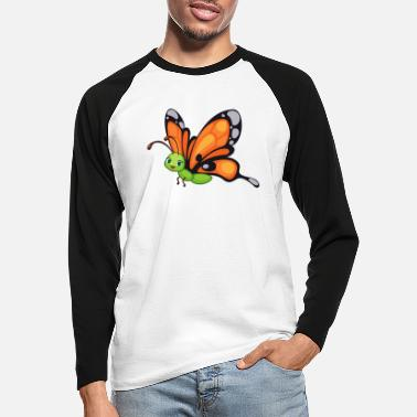 Bird Schmetterling Butterfly Zoo Safari - Männer Baseball Langarmshirt