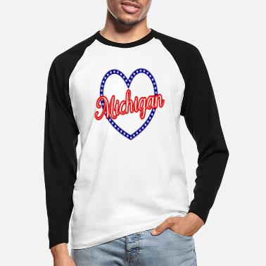 Michigan Michigan - Männer Baseball Langarmshirt