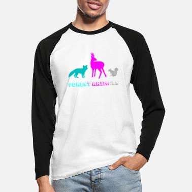Forest Animal Forest animals - Men's Longsleeve Baseball T-Shirt