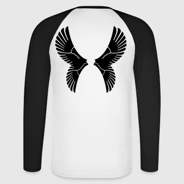 wings - Men's Long Sleeve Baseball T-Shirt