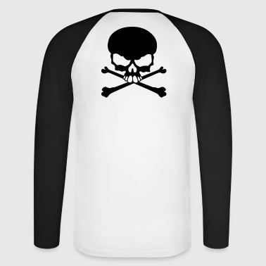 Tete de mort pirate tribal - T-shirt baseball manches longues Homme