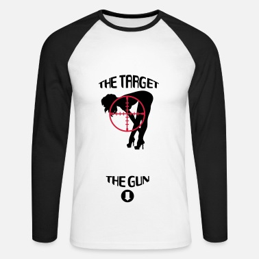 Target The Target & The Gun - T-shirt baseball manches longues Homme