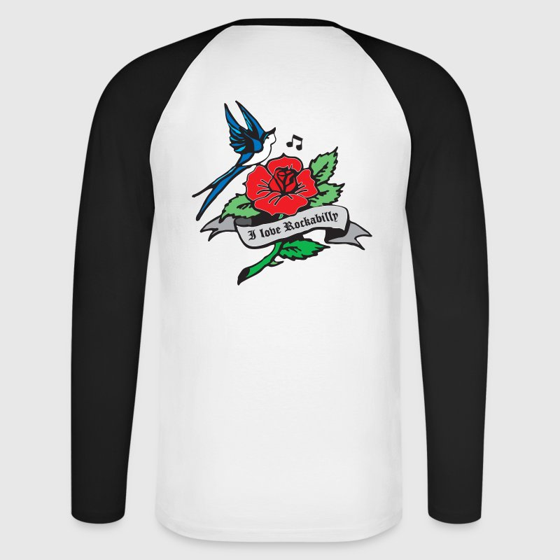rockabilly tattoo retro patjila - T-shirt baseball manches longues Homme