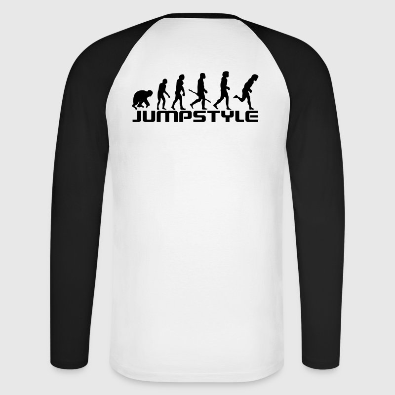 Blanc/noir Jumping Is Not a Crime Manches Longues Hommes - T-shirt baseball manches longues Homme