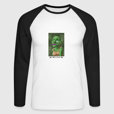 Goblin portrait - Men's Long Sleeve Baseball T-Shirt