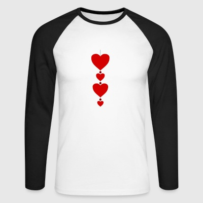 heart - Men's Long Sleeve Baseball T-Shirt