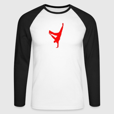 break dancing - Men's Long Sleeve Baseball T-Shirt