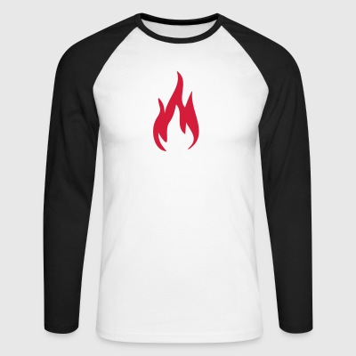 Fire Fire Fire 1c - Men's Long Sleeve Baseball T-Shirt