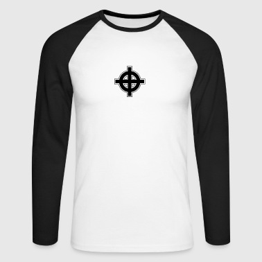 Celtic Cross - Men's Long Sleeve Baseball T-Shirt