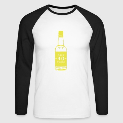 40 ans - Whisky - T-shirt baseball manches longues Homme