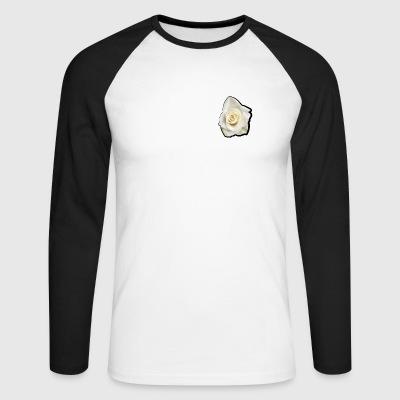 White rose - Men's Long Sleeve Baseball T-Shirt