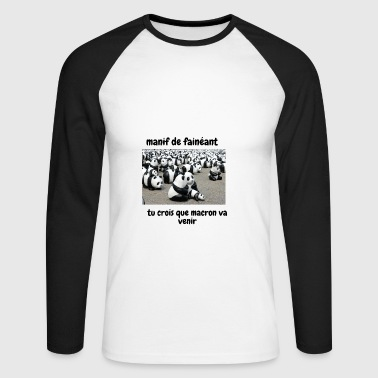 manif - T-shirt baseball manches longues Homme