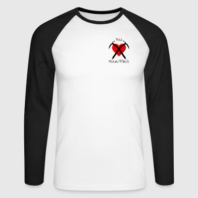 You Love Mountains - logo with text - Men's Long Sleeve Baseball T-Shirt