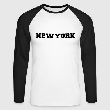 New York City - NYC - Big Apple - Männer Baseballshirt langarm