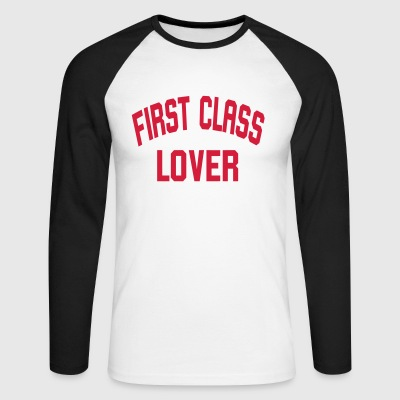 First Class Lover - Men's Long Sleeve Baseball T-Shirt